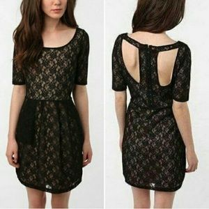 Anthropologie Silence + Noise Lace Open Back Dress